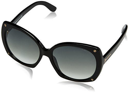 Tom Ford 01B Black Gabriella - Black Butterfly Sunglasses Size - Tom Black Ford Sunglasses