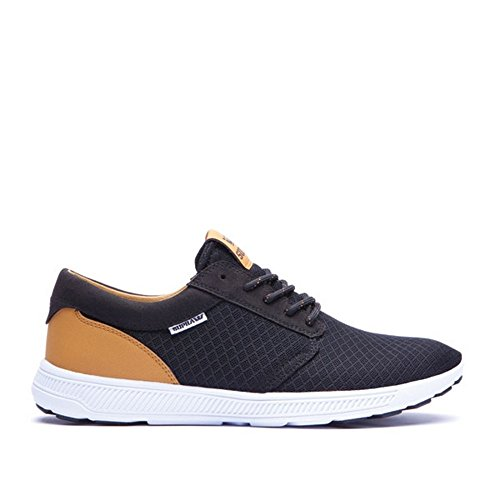 Supra HAMMER RUN - zapatilla deportiva de material sintético unisex Black/Brown - White