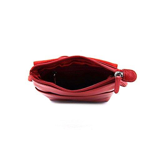 New Flap ili 6647 Sac York Crossbody Toffee Mini Red Leather An7HUxq