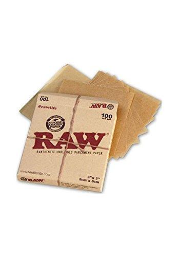 RAW Unrefined Parchment Paper Squares 3