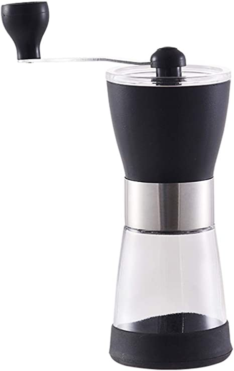 Amazon Com Manual Grinders Manual Coffee Grinder Coffee Bean Grinders Mini Hand Coffee Grinder Jar Large Mill Compact Crank Manual Coffee Bean Grinder Color Clear Size 717cm Kitchen Dining