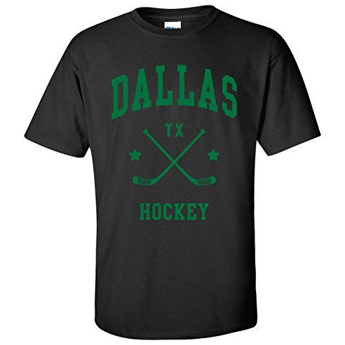 Dallas Classic Hockey Arch Basic Cotton T-Shirt - Medium - Black