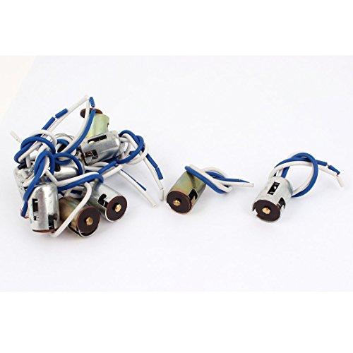 10Pcs Car LED 1156 Socket Single Foot Holder Wire Bayonet Socket