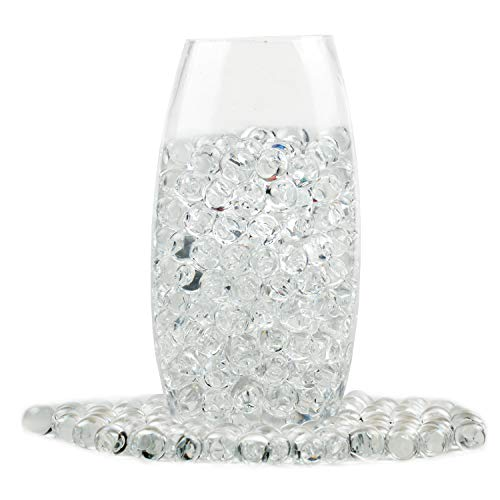 (Clear Water Beads Transparent Water Gel Jelly Beads Water Growing Balls for Kids Tactile Sensory Toys, Vases, Plants, Candle Making, Wedding and Home Decoration (8OZ))