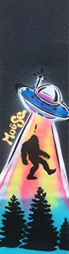 "Bigfoot Moüse Skateboard Grip Tape Sheet Black 9"" x 33"" Bubble Free"