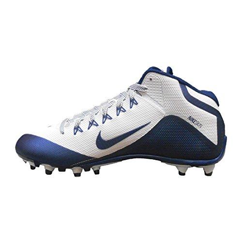 Nike Mens Alpha Pro 2 3/4 Td Tacchetti Da Calcio Bianchi / Blu Scuro