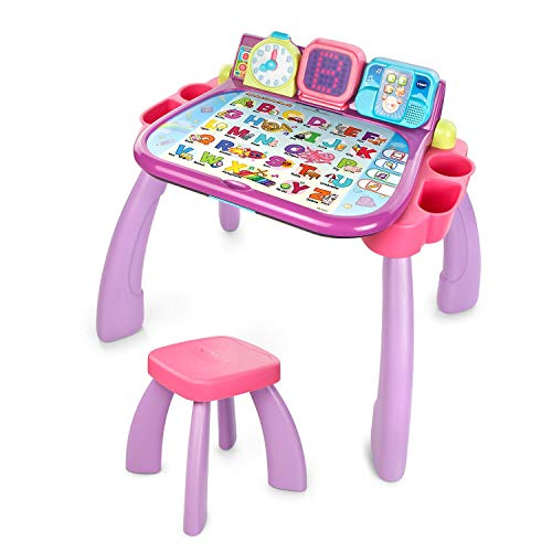 VTech Touch and Learn Activity Desk, Purple (Renewed)