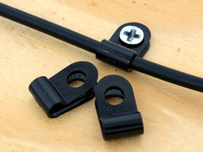 1/8 Inch UV Black Cable Clamp - 100 Pack -