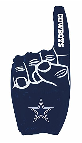 Pro Specialties Group NFL Dallas Cowboys Inflatable 1 Finger, Navy, Onse -