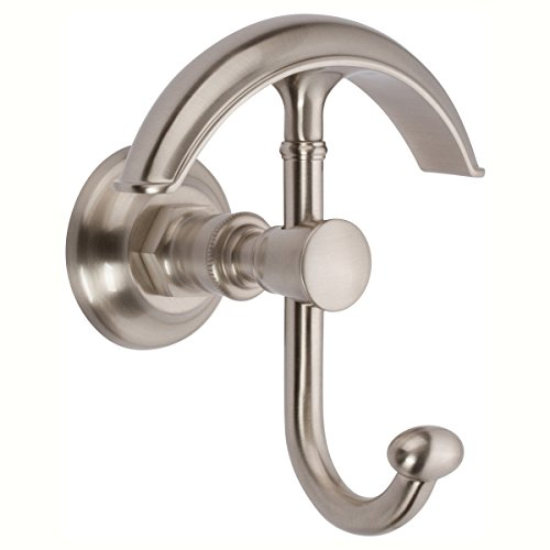 Ginger 4811/SN Eavon Double Towel Robe Hook, Satin Nickel by Ginger (Image #2)