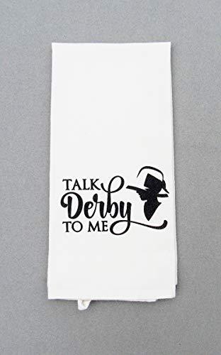 Talk Derby To Me Tea Towel, Kentucky Derby Decor, Hand Towel, Dish Cloth ()
