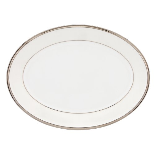 Lenox Linen Mist Oval Platter, 13-Inch