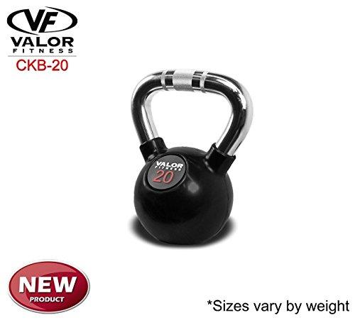 Valor Fitness Chrome Kettlebell, 20 lb