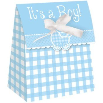 avor Boxes w/Ribbon 12 Count (Gingham Favor Boxes)