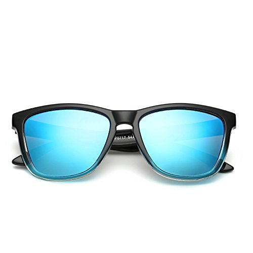 DUJUANNIAO Mens Womens Polarized Sunglasses Mirror Lens Square Eyewear Sun Glasses Oculos De Sol C7