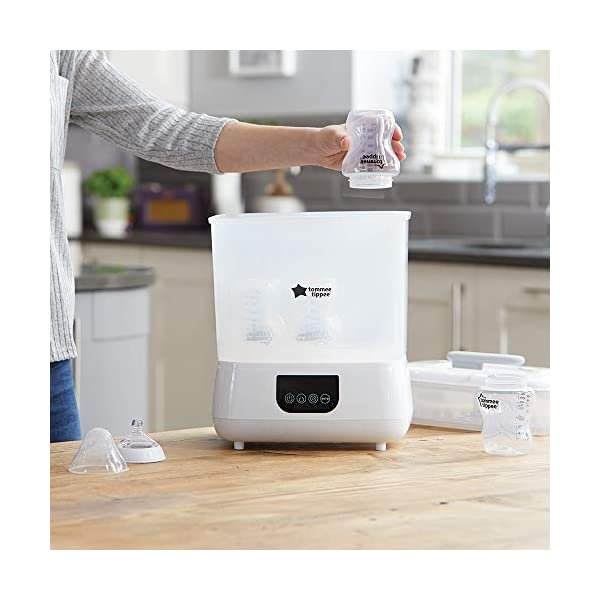 New Tommee Tippee Steri-Steam Electric Steam Sterilizer, White 3