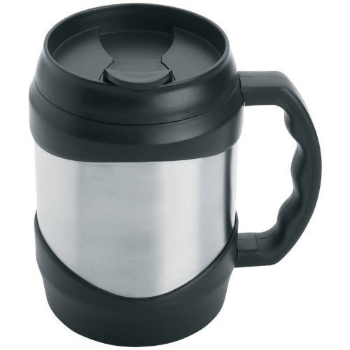 New Oversized Stainless Steel 52 oz Coffee Travel Mug Keg Large Huge Cup Black by New Unbrand (Stainless Oversized Steel Mug)