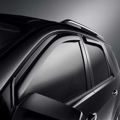 Front /& Rear Sets Smoke GM # 19158426 Side Window Weather Deflector//Vent Visors