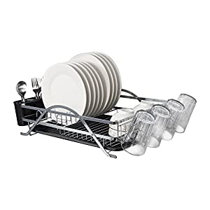 Micoe Dish Drainer Drying Rack 1 tier Tableware organizer with Cup Holder Large Capacity WDT1001