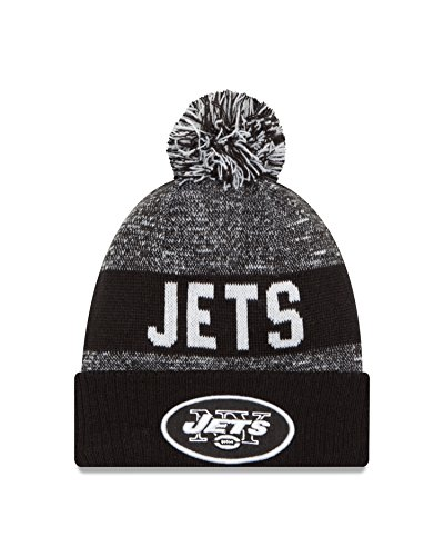 NFL New York Jets 2016 Sport Knit Beanie, One Size, Black/White