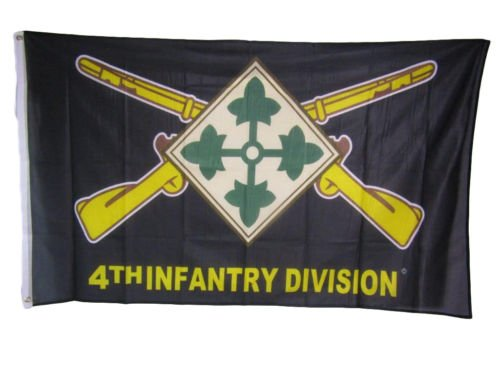 3x5 Army 4th Infantry Division Ivy Knitted Nylon Premium Flag 3x5 Grommets BEST Garden Outdor Decor polyester material FLAG PREMIUM Vivid Color and UV Fade Resistant