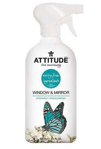 Attitude Window & Mirror Cleaner, Citrus Zest 27.1 oz (800 ml),1 pk