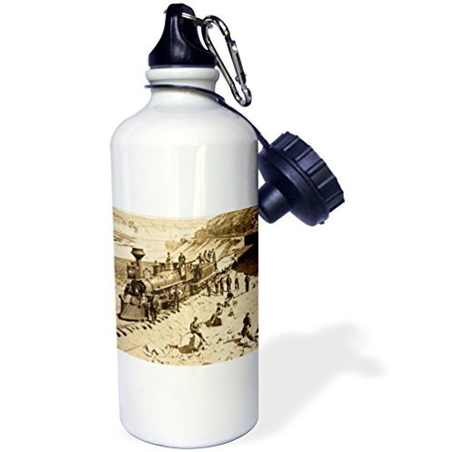 (Moson Water Bottle Gift for Kids Girl Boy, Scenes From The Union Pacific Railroad Stainless Steel Water Bottle for School Office Travel 21oz)