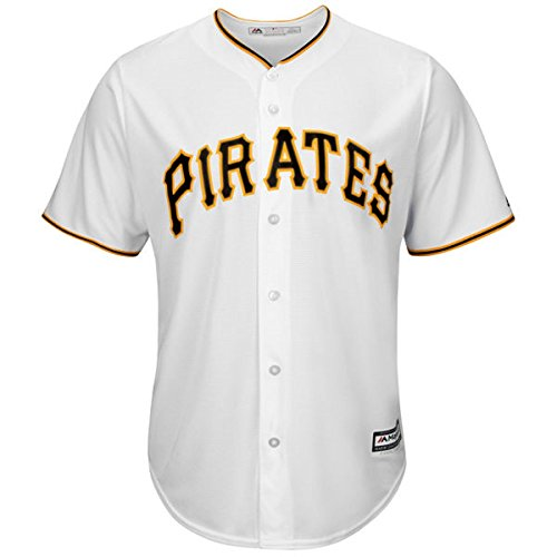 Pittsburgh Pirates Youth Cool Base Team Home Jersey (White, Youth Large 14/16)