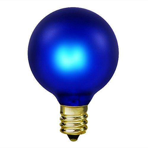 15 Watt - Cobalt Blue - G16.5 (G50) - Candelabra Base - 2 in. Dia - 130 Volt - Amusement Light Bulb - Cobalt 2 Light