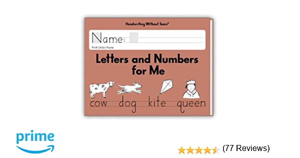 Handwriting Without Tears Letters and Numbers Kindergarten ...