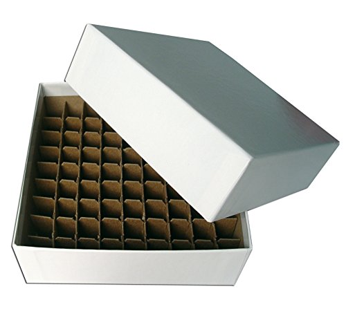 Micro Tube Storage - Cardboard Micro-Tube Storage Box Set with Cell Partition, 81 Tube Capacity, 48 Boxes per Case