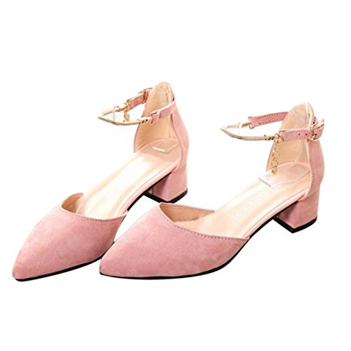 Binmer(TM) Women High Heels Shoes Summer Wedding Platform Wedge Sandals Shoes Pink NPvsYZ