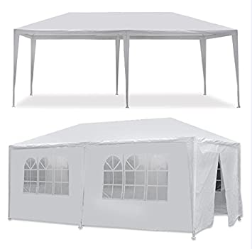 Quality Tents - White Outdoor Gazebo Canopy Wedding Party Tent - With 6 Removable Window Walls  sc 1 st  Amazon.com & Amazon.com : Quality Tents - White Outdoor Gazebo Canopy Wedding ...