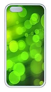 iPhone 5 5S Case Green Hazy Circle TPU Custom iPhone 5 5S Case Cover White