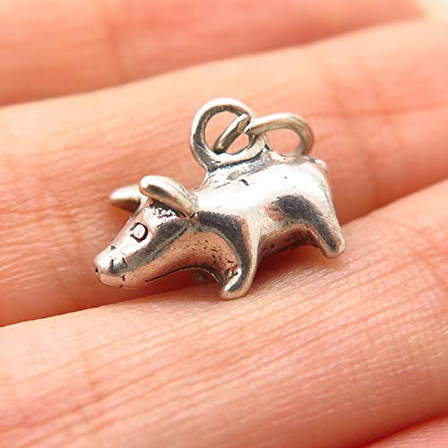 925 Sterling Silver Shube Pig/Piglet Design Charm Pendant Jewelry Making Supply by Wholesale Charms