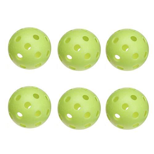 JUGS SPORTS Pickleballs, Vision-Enhanced Green, Half Dozen