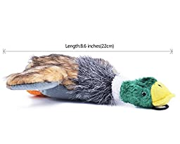 Plush Squeaky Puppy Dog Chew Toy for Tiny Small Chewers, Mallard 8\