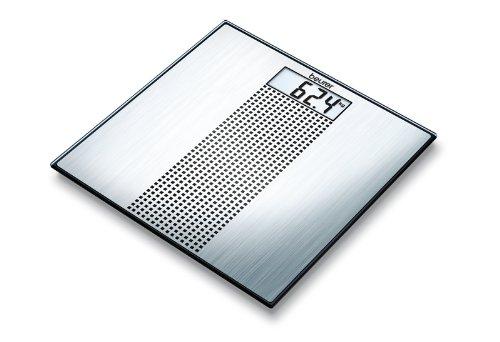 Beurer GS 36 Glaswaage, Edelstahloptik mit schwarz