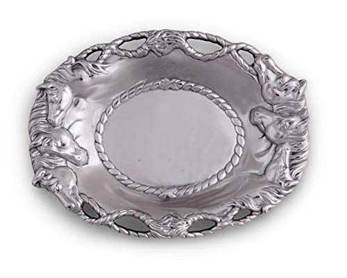 (Arthur Court Horse 14-Inch Oval Tray )
