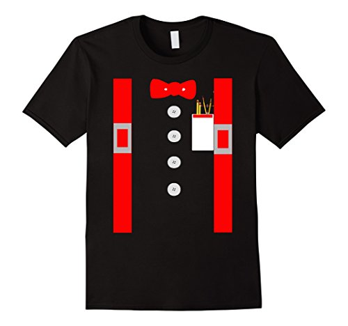 Mens Nerd Costume Shirt Red Suspenders Pocket Protector 3XL - Costume Male Nerd