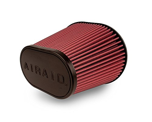 Airaid 720-472 Universal Clamp-On Air Filter: Oval Tapered; 6 Inch (152 mm) Flange ID; 9 Inch (229 mm) Height; 10.75 Inch x 7.75 Inch (273 mm x 197 mm) Base; 7.25 Inch x 4.25 Inch (184 mm x108 mm) Top