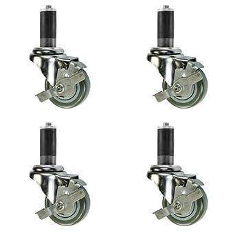 3/4u0026quot; Expanding Stem Caster With Brake   3u0026quot; Polyurethane Wheel    Work