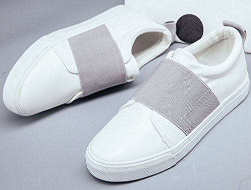 Maybest Womens Casual Outdoor Loafer Schoenen Platte Instapschoenen Candy Gekleurde Patchwork Sneakers Grijs
