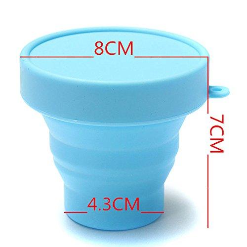 amazing-trading (TM) portable Rétractable en Silicone Pliable tasse