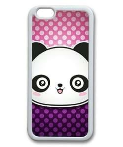 iphone 5 5s Case, Cute Panda Slim Fit Case for iphone 5 5s Soft TPU Material White