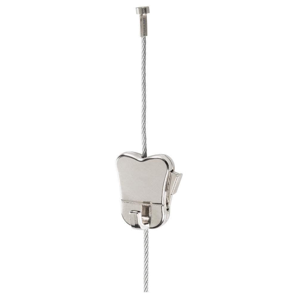 HAGHED Wire w Stopper and Adjustable Hook, Steel, Metal