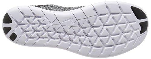 Nike Herren Free RN Flyknit Laufschuhe, 44 EU Weiß (White / Black)
