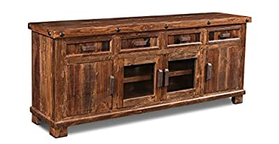 "Westgate 80"" Rustic Brown TV Stand/Media Console"