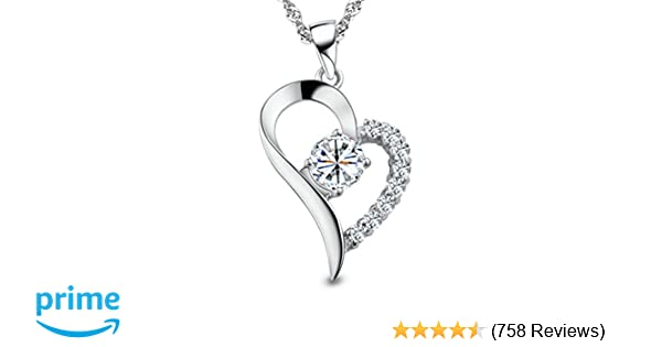 54ffc562b Amazon.com: You Are the Only One in My Heart Sterling Silver Pendant  Necklace: Swarovski: Clothing
