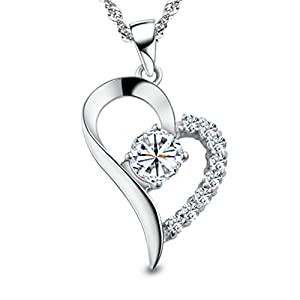 Sterling Silver Pendant Necklace – You Are the Only One in My Heart
